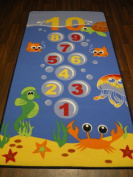 Non Slip Kids Under The Sea Hopscotch Large Play Mat /Rug 100cm x 200cm Hours Of Fun