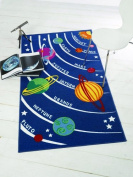 "KIDS PLANETS BEDROOM PLAYROOM RUG - 80 X 120cm (2'6"" X 4')."