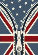 Union Jack Rug. British America teenagers, kids bedroom rug. American stars stripes & Britain