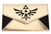 Gold Black Zelda Logo Envelope Wallet