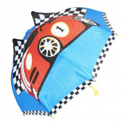 Kiddi Choice 3D PopUp Racing Car Cute Umbrella, Blue/Red