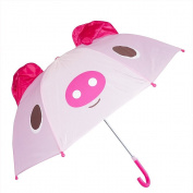 Kiddi Choice 3D Pop-Up Pink Pig Cute Umbrella