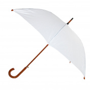 Raintec Womens White Auto Open Wood Handle Wedding Umbrella