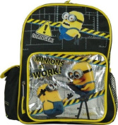Mini Backpack - Despicable Me 2 - Silver/Black 25cm Minions Work Bag New 08980