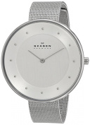 Skagen Women's SKW2140 Gitte Silver Dial Stainless Steel Mesh Bracelet Watch