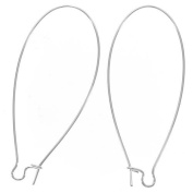 Sterling Silver Earring Hooks Kidney Wires Extra Extra Long 5.1cm