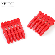 Neitsi® 12pcs Plastic Crocodile Hairdressing Sectioning Clamp Hair Styling Matte Clips Hair Grips