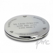 Beautiful Bride Compact Mirror Personalised Beauty Stylish Present Gift Make-Up