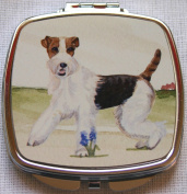 FOX TERRIER DOG compact mirror design Sandra Coen