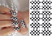 Nail Art Stickers Full Wrap Polka Dot Nail Sticker Tattoo - FashionLife