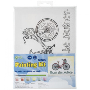 CP Stretched Canvas and Paint Kit, 15cm x 8