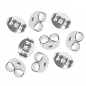 Silver Plated Earring Backs (Earnuts) Med.