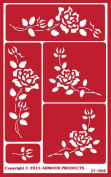 Over 'N' Over Reusable Stencils 13cm x 20cm -Roses