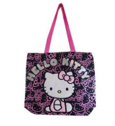 Tote Bag - Hello Kitty - Black Face Pattern New Gifts Girls Hand Purse 81414