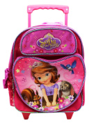 Small Rolling Backpack - Sofia The First - 30cm Large School Bag New 634773
