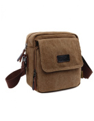 Plambag Mens Small Casual Canvas Cross Body Everyday Satchel Bag
