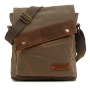 "Men's and women's Students Vintage Canvas bag Inclined shoulder bag multi-function Retro canvas bag leisure travel bag, Messenger Bag backpack Single shoulder bag Briefcase Laptop Bag Satchel fit for ipad sumsang and other brand tablet Size:30CM(11.81"" .."