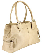 Women's Quality Leather Style Shoulder Handbag 3 compartments
