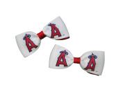 Los Angeles Angels Hair Bow Pair