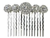 Clear Crystal Hair Comb Bridal Bridesmaid Flower Girl Wedding Party Prom Q77