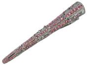 Pink Rhinestone Crystal Big Hair Clip