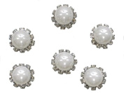 6 Pieces Clear Crystal And Pearls Hair Pins For Bridal Wedding Party B10