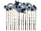 Navy Blue Hair Comb Floral Bridal Bridesmaid Flower Girl Wedding Party Prom