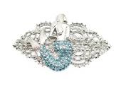 Mermaid Hair Barrette Gorgeous Aqua Light Blue Rhinestone Crystal
