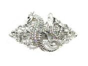 Barrette Mermaid Seahorse Sparkling AB Rhinestone Crystal