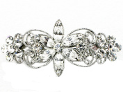 Clear Barrette Clip Bridal Bridesmaid Flower Girl Wedding Party Prom G232