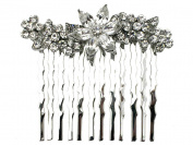Clear Crystal Hair Comb For Bridal Bridesmaid Flower Girl Wedding Party L15