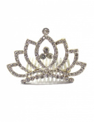 Dahlia Mini Princess Tiara Comb - Lotus