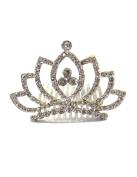Dahlia Mini Princess Tiara Comb - Lotus