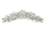 Gorgeous Clear Crystal Floral Hair Comb For Bridal Bridesmaid Wedding Part L14