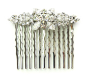 Gorgeous Clear Hair Comb Bridal Bridesmaid Flower Girl Wedding Party Q193