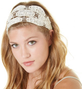 Natural Life Womens Crochet Lace Headband One Size Cream beige