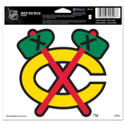 Chicago Blackhawks Official NHL 10cm x 15cm Car Window Cling Decal by Wincraft