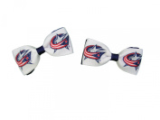 Columbus Blue Jackets Hair Bow Pair