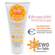 True Natural Neutral Sunscreen SPF 50, Unscented, 100ml