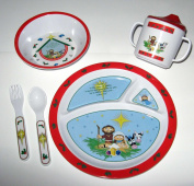 Mealtime Set - A Saviour Is Born - Red