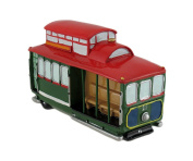 Red And Green Cable Car Coin Bank