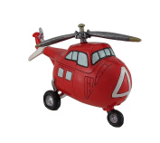 Red And White Helicopter Coin Bank
