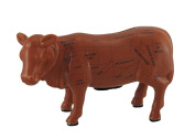 Brown Cow Ceramic Coin Bank Cow Cuts Butcher Chart Piggy Bank