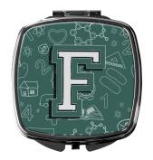 Letter F Back to School Initial Compact Mirror CJ2010-FSCM