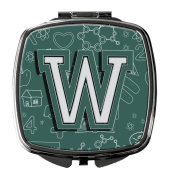 Letter W Back to School Initial Compact Mirror CJ2010-WSCM