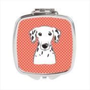 Red Chequered Dalmatian Compact Mirror BB1131SCM