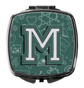 Letter M Back to School Initial Compact Mirror CJ2010-MSCM
