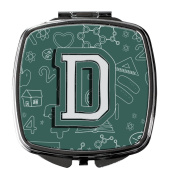 Letter D Back to School Initial Compact Mirror CJ2010-DSCM