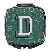 Letter D Back to School Initial Compact Mirror CJ2010-DSCM