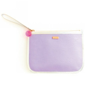 Ban.do Fancy Clutch with Wristlet Bag, Lilac and Silver